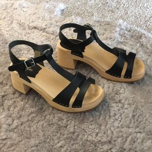 Swedish Hasbeens clog sandals